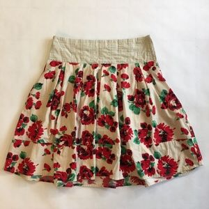 Kimchi Blue Fit and Flare Spring Floral Skirt